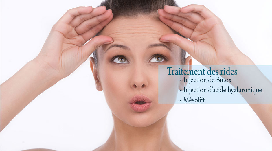 traitement des rides, injection de botox, injection d'acide hyaluronique